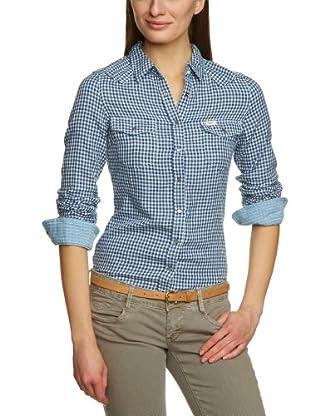 Lee Camisa Western (Azul / Blanco)