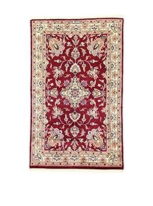 L'Eden del Tappeto Teppich Kashmirian F/Seta rot/beige 148t x t92 cm