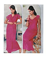 Indiatrendzs Women's Sexy Hot Nighty Hot Red 2pc Set Bedroom Nightwear Freesize