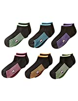 Maidenform Big Girls' Athletic Six-Pack Low-Cut Socks