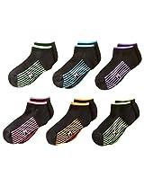 Maidenform Big Girls' Athletic Six-Pack Low-Cut Socks