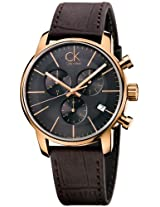 Calvin Klein Ck City Leather Chronograph Mens Watch K2G276G3