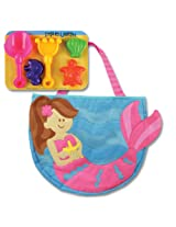 Stephen Joseph Mermaid Beach Totes with Sand Toy Play Set, Multi Color