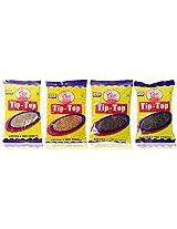 Tip-Top Jeera, Methi, Black Mustard seeds, Pepper, 400 grams (Combo Pack of 4)