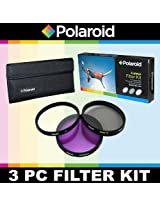 Polaroid Optics 3 Piece Filter Set (UV, CPL, FLD) For The Nikon D40, D40x, D50, D60, D70, D80, D90, D100, D200, D300, D3, D3S, D700, D3000, D5000, D3100, D3200, D3300, D7000, D5100, D4, D4s, D800, D800E, D600, D610, D7100, D5200, D5300 Digital SLR Cameras Which Have The Nikon (28-300mm, 16-35mm, 10-24mm, 12-24mm, 17-55mm, 80-200mm, 80-400mm, 24-120mm, 70-200mm, 24mm, 24-70mm, 85mm f/1.4D, 24-120mm F4) Lens