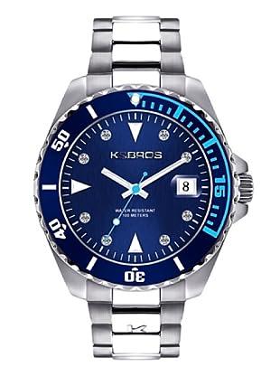 K&BROS 9175-3 / Reloj de Señora  con brazalete metálico azul