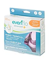 Evenflo Advanced Plus Angled Bottle, 6 Ounce, 3-Count, Girl, 0-3 Months