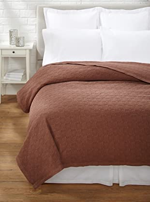 Belle Epoque Rose Coastal Matelassé Coverlet (Chocolate)