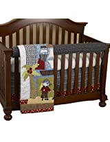 Cotton Tale Designs Front Crib Rail Cover Up Set, Pirates Cove