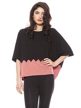 La Casita de Wendy Camiseta Triángulos (negro/rosa claro)