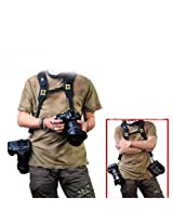 Fortitude -Quick Release Dual-shoulder Camera Neck Strap for Canon Nikon Olympus Pentax Panasonic Sony Dslr + Lens - Black