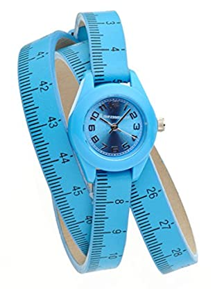 Il mezzometro Uhr mit Miyota Uhrwerk Classic Time himmelblau 32 mm