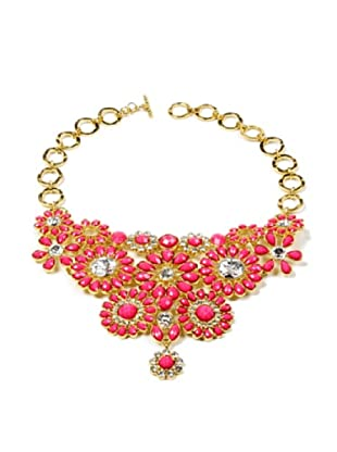 Amrita Singh Collar Crystal Cocoa Bib Fucsia