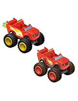 Fisher Price Nickelodeon Blazing Speed Blaze And Mud Racin Blaze Bundle