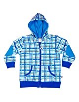 Buzzy Baby Boys' Cotton Hooded Jacket (DARRYL_White_3-6M)