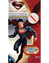 Paper Magic Superman Deluxe Valentines with Bonus Glowstick (16 Count)