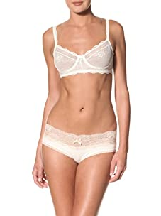 Eberjey Women's Prima Ballerina French Brief (Pack of 2) (Ivory)