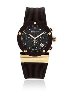Ferragamo Men's F66LCQ5R44 S117 Gancino Sport Brown Mother of Pearl Rubber Watch