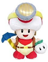 """Sanei Super Mario Series Standing Pose Captain Toad Plush Toy, 7.5"""" By Sanei"""
