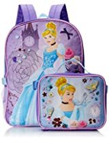 Disney Girl's Cinderella Backpack with Lunch Kit