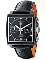 TAG Heuer Men's THCAW211MFC6324 Monaco Analog Display Swiss Automatic Black Watch