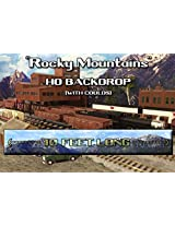Train Junkies Rocky Mountain High With Clouds Railroad Backdrop Ho Oo Scale