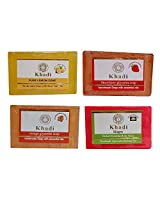 Khadi Soaps 500 Grams (Pack of 4) (LEORSTM0)