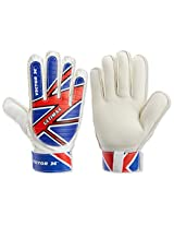 Vector X Ultimax Goal Keeping Glove, Size 8 (White/Blue/Red)