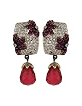 Dilan Jewels POWER Collection Pink Shimmer Silver Drop Party Earrings For Women