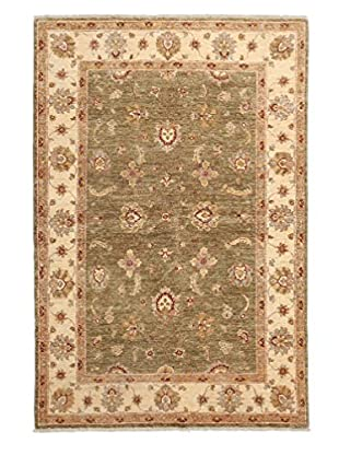 Darya Rugs Traditional Oriental Rug, Green, 4' 2