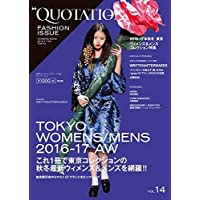 QUOTATION FASHION ISSUE 2016年Vol.14 小さい表紙画像