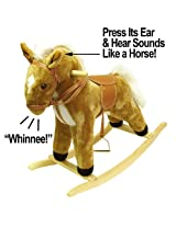 HAPPY TRAILST Plush Rocking Horse with Sound (80-08HORSE) -