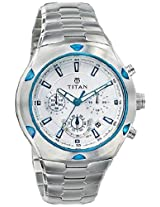 Titan Octane Chronograph White Dial Men's Watch - NE9468KM01J