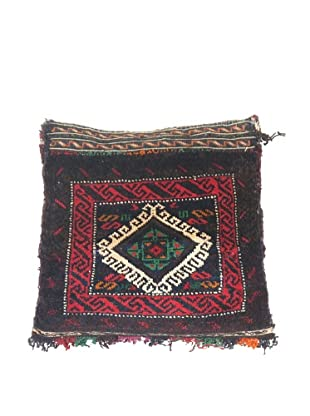 "One of a Kind Afghan Pillow, 14"" x 14"" x 6"""