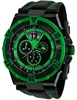 Stuhrling Original Men's 220XL.332P571 Aviator Falcon Blazer Swiss Quartz Multi Function Green Watch