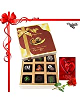 Amazing Colorful Surprise Of Chocolates With Card And Rose - Chocholik Belgium Chocolates
