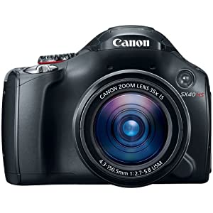 Canon PowerShot SX40 HS 12.1MP Digital Point-and-Shoot Digital Camera (Black) with Memory Card, Camera Case