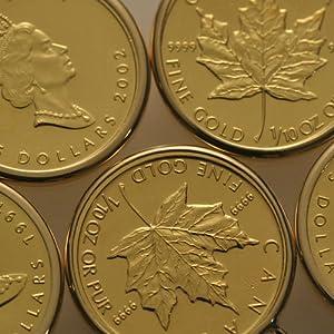 世界で一番人気の金貨 当店通常価格の50%OFF 【カナダ政府発行】 メイプルリーフコイン ペンダント 1/10オンス フセコミ枠
