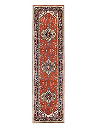 Bashian Rugs One-of-a-Kind Hand Knotted Indo-Herez Rug, Rust, 2' 8