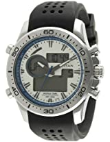 Titan Octane Analog-Digital Silver Dial Men's Watch - 9455SP03