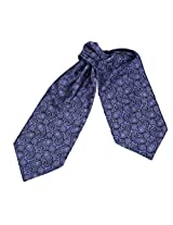 ERA1B04B Purple Paisley Beautiful Accessories Mens Ascot Woven Microfiber Handmade Fabric Cravat By Epoint