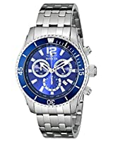 Invicta Watches, Men's Invicta II Chronograph Blue Dial Stainless Steel, Model 0620
