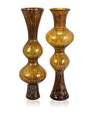 Set of 2 Marcellus Glass Mirroring Vases