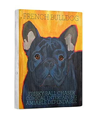 Ursula Dodge French Bulldog Black Reclaimed Wood Portrait