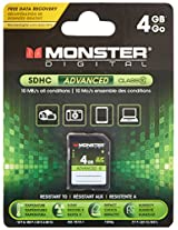 Monster Digital 4GB SDHC Full Size SD Memory Card Advanced Series (SDFSA-0004-S)