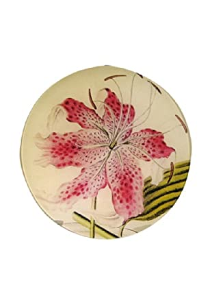 Twigs and Moss Tiger Lily Glass Tray