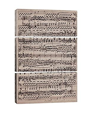 Modern Art Sheet Music Ode to Joy Gallery Wrapped Triptych Canvas Print