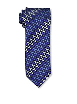 Missoni Men's Big Zig Zag Tie, Blue