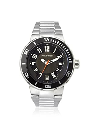 Philip Stein Men's 34-BB-SS Extreme Silver/Black Stainless Steel Watch