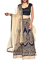 Regally ornate blue lehenga set
